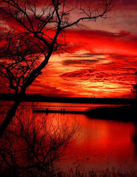 Red sky at night sailors delight, red sky in morning sailors warning!!! My grandmother used to say this!