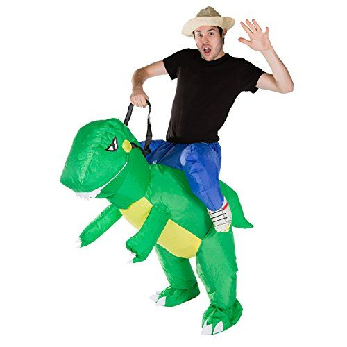 Bodysocks Adult Inflatable Dinosaur Fancy Dress Costume