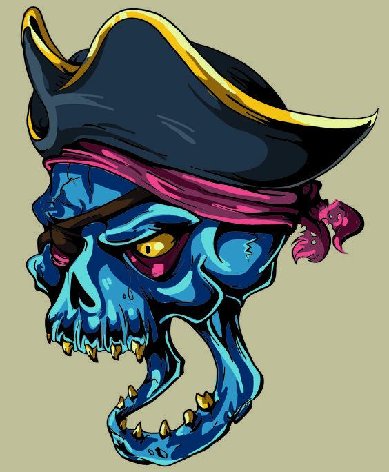 Calabera Pirata.