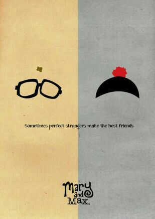 """44 - 12/26/14 - """"Mary and Max."""" Third movie on Bauer movie day. Never thought I'd see a Claymation movie that depicts serious adult themes in a poignant way. A sweet commentary on friendship and mental illness."""