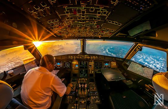 Sunrise In The Office by Karim Nafatni | This guy's photos are insane.