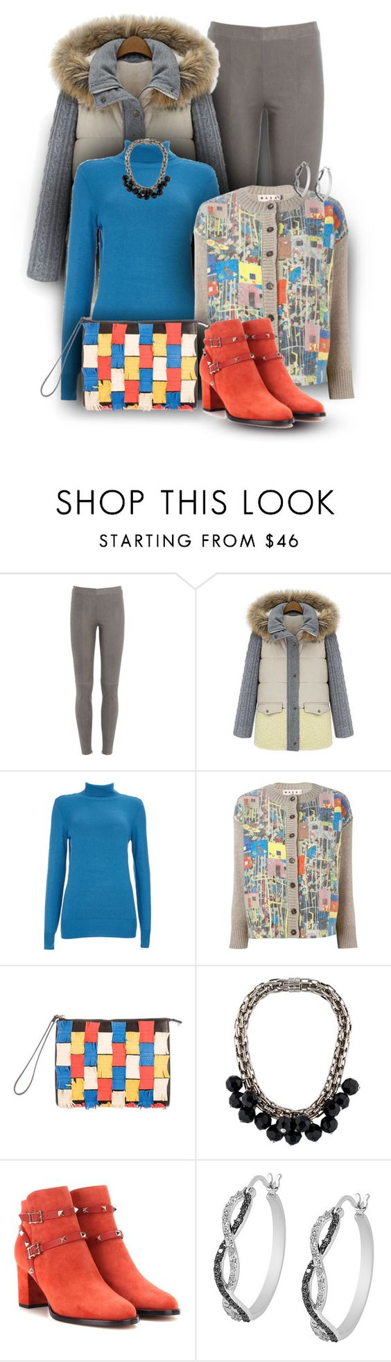 """Marni Cardigan Set"" by franceseattle ❤ liked on Polyvore featuring Steffen Schraut, Trilogy, Wallis, Marni, Valentino and Jewel Exclusive"