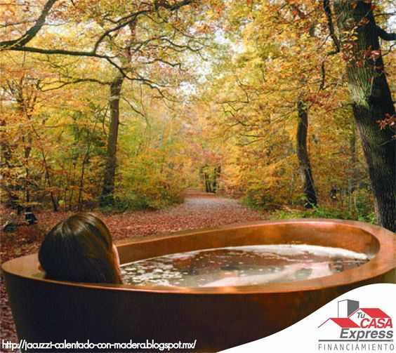Baño De Tina Natural: de ser decorativa, el aroma natural de las maderas en combinación con