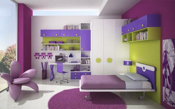 Camera per ragazzi molto versatile nei colori e nelle composizioni