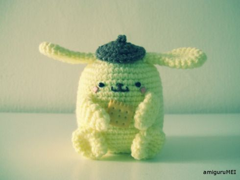 yellow dog crochet amigurumei