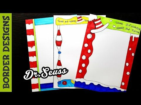 Easy Border Designs On Paper Border Designs Project Work Designs Borders For Projects Youtube Border Design Front Page Design Borders For Paper