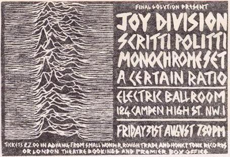 Joy Division, The Monochrome Set, Scritti Politti, and A Certain Ratio at Electric Ballroom (31 Aug 79)
