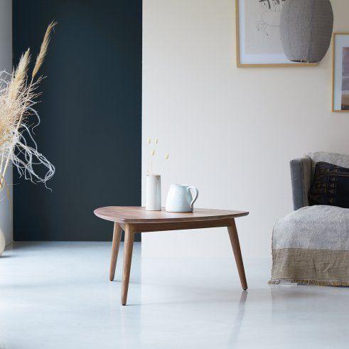 Table Basse Trepied En Noyer 80 Cm Meubles Pour Le Salon Tikamoon En 2020 Table Basse En Noyer Table Basse Mobilier De Salon