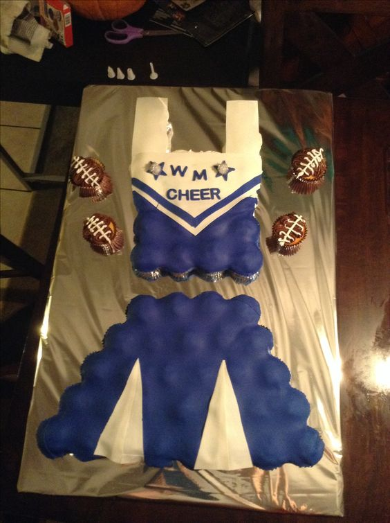 Cheerleading pull apart cupcake uniform.