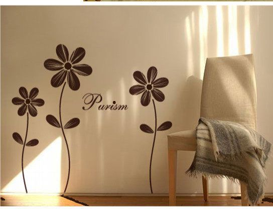 Dresser ... Vinyl wall sticker wall decal artlovely flower by walldecals001. , via Etsy.