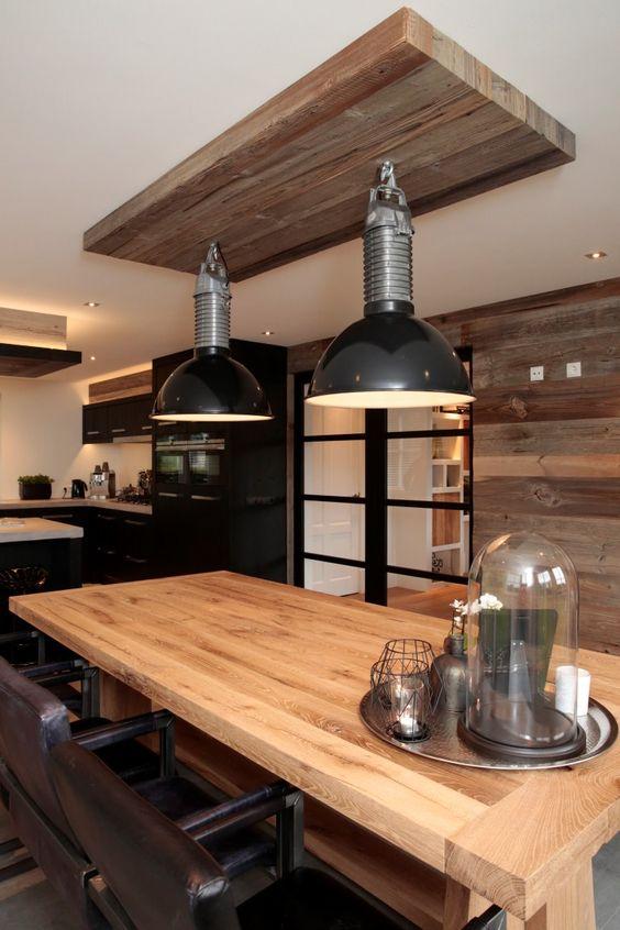 Www.nice id.nl, oud eiken keuken zwart gespoten met gesmeerd blad ...