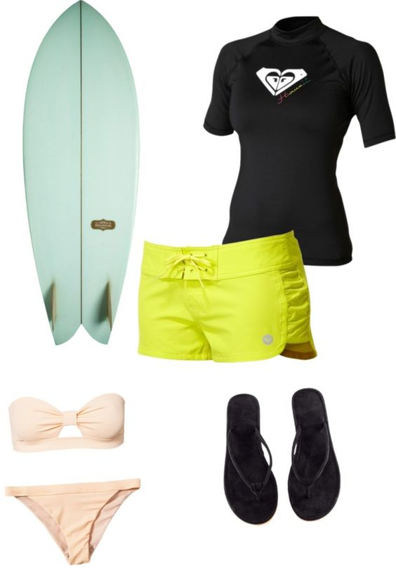"""surfinggg"" by corissa-paris ❤ liked on Polyvore"