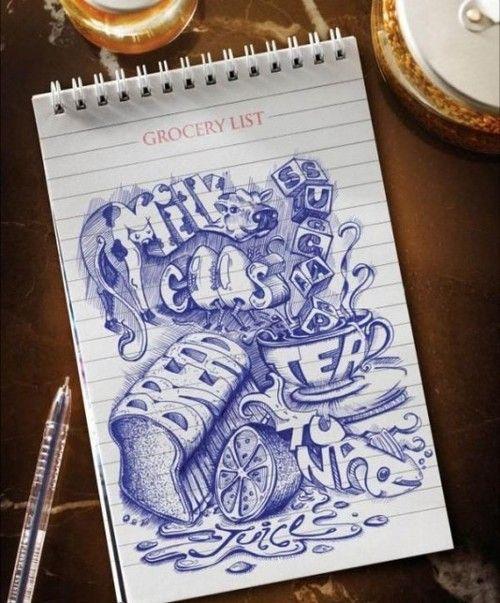 Grocery list Art Lessons - Word Art Pinterest Leikekirjat - grocery list word
