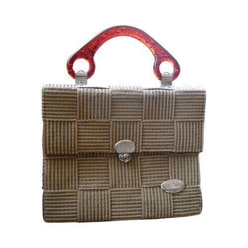 Vintage Italian Fabric Woven Handbag - $185.
