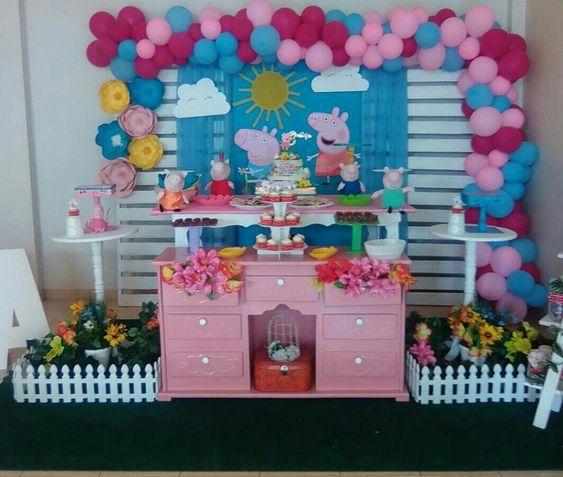 Fiesta Infantil De Peppa Pig Decoración De Cumpleaños De