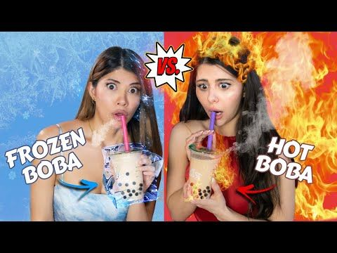 Eating Only Hot Vs Cold Food Challenge Youtube Cold Meals Food Challenge Challenges