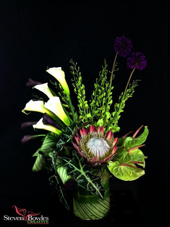 Tropical flower arrangement tropical wedding flowers for King protea flower arrangements