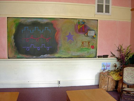 Waldorf ~ 1st grade ~ Form Drawing ~ chalkboard drawing