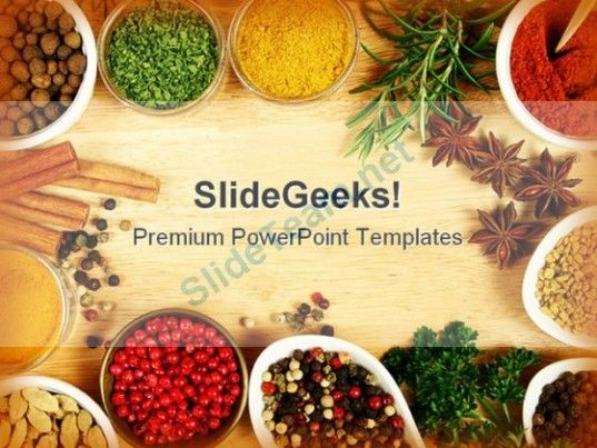 spices food powerpoint templates and powerpoint backgrounds 0311, Modern powerpoint
