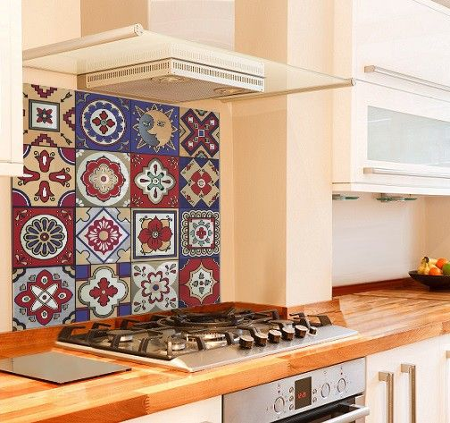 Mexican Tiles Kitchen Glass Splashback Moroccan Tiles Kitchen