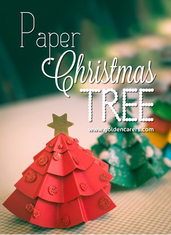 Paper Christmas Tree Centerpieces Tree Centerpieces, Paper