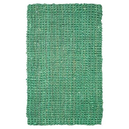 Hand-woven from jute, this green rug is the perfect anchor for your tropical kitchen or bathroom. Arrange alongside white rattan chairs and bamboo print wall...
