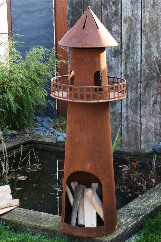 Der moderne Feuerkorb aus Metall in hochwertigem Leuchtturm Design ist ein echter Hingucker. Ein kleines Schmuckstück für den Garten oder die Terasse. Durch den hohen Rauchabzug entsteht ein Kamin-Effekt. Für eine raucharme und effiziente Verbrennung. FÜR JEDEN ANLASS - Der Terrassenkamin ist ideal geeignet für Ihre Gartenparty, Geburtstagsparty oder gemütliches Beisammensein. Zaubern Sie eine gemütliche Atmosphäre und unvergessliche Nächte... *Pin enthält Werbelink