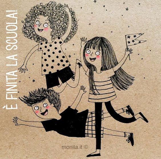 Monila handmade,illustrazione,illustration,ultimo giorno di scuola