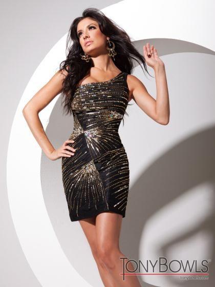 Tony Bowls Shorts Dress TS11370 at Prom Dress Shop