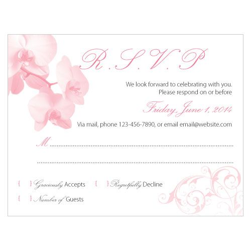 Classic Orchid RSVP