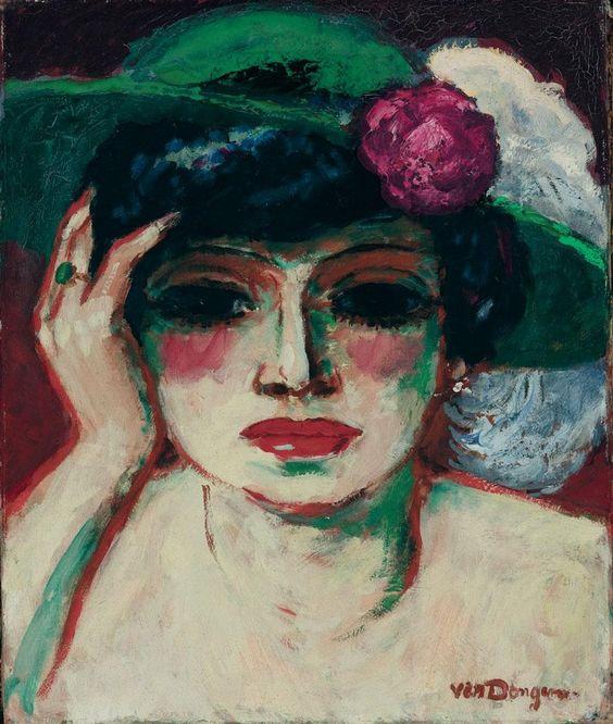 "peinture hollandaise : Kees Van Dongen, 1905, ""portrait de Fernande"", femme, 1900s"