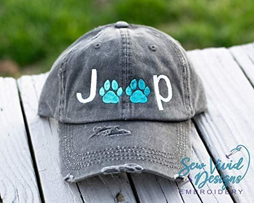 Jeep Paw Print Distressed High Ponytail Baseball Or Trucker Cap Jeep Wrangler Hat For Dog Lover Lovely Novelty Jeep Dogs Jeep Wrangler Jeep Wrangler Accessories
