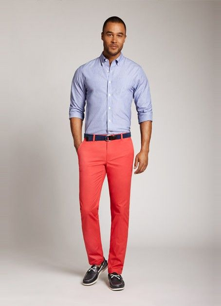 Summer Weight Chinos - Melon  Bonobos Slim Red Summer Weight ...