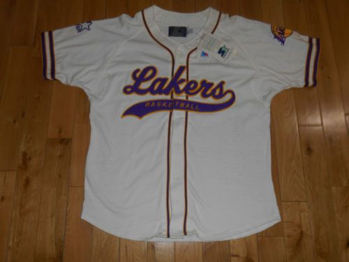 Vintage-90s-New-Starter-LOS-ANGELES-LAKERS-Mens-NBA-Team-Baseball-Style-Jersey-L