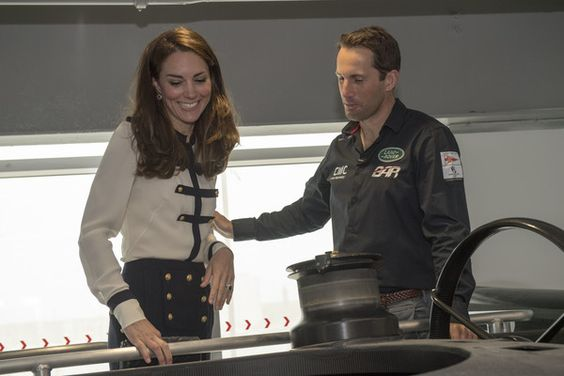 Kate Middleton Photos - Catherine, Duchess of Cambridge, patron of the 1851 Trust, talks with Sir Ben Ainslie as she visits the Land Rover BAR team, who are challenging for the 2017 America's Cup, on May 20, 2016 in Portsmouth, England. The Duchess of Cambridge is launching the 1851 Trust's two sailing projects and meeting people involved in the project. Afterwards she will open the 'Tech Deck' Education Centre at the heart of the base. - The Duchess Of Cambridge Visits Land Rover BAR And…