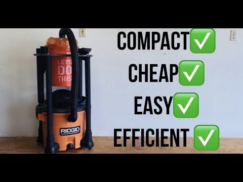 306 The Ultimate Space Saving Dust Cyclone Separator Cart Dustopper Ridgid Vac Cart Youtube Shop Dust Collection Dust Collector Diy Woodworking