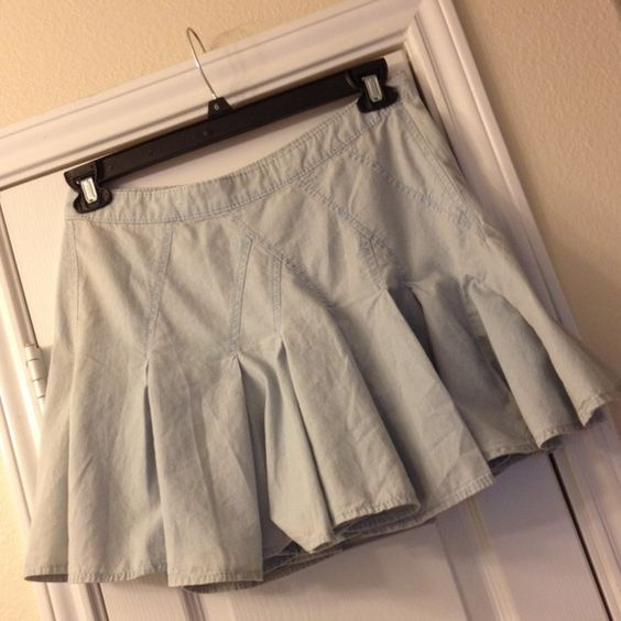 Denim BCBG skirt Never worn BCBG skirt! Super cute! BCBG Skirts
