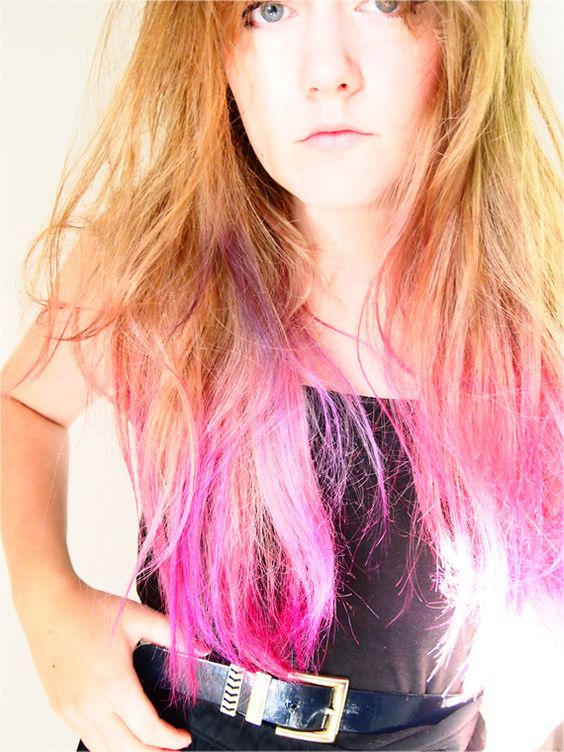 Time for Tea: you go back to her and i go back to... pink? I want to do this so badly! Step by step how to dip dye.