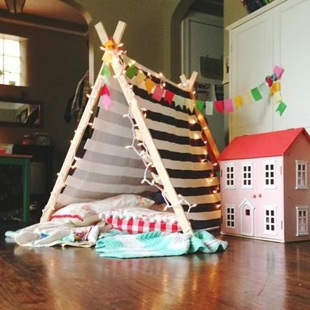 Your kiddos will love this project from www.aprettycoollife.com for the weekend. a pretty cool life.: Kiddo Swag, Diy A Frame Tent, A-Frame Tent, Kids Activities, Teepee Tent, Kids Rooms