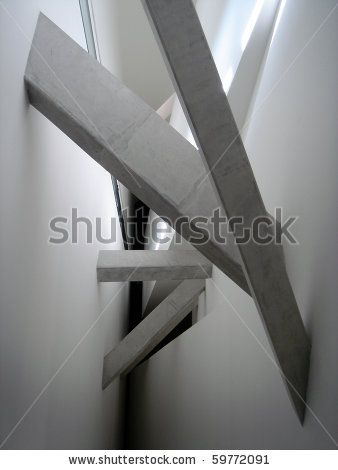 minimal concrete interior beams on Shutterstock