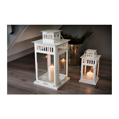 borrby lantern for block candle white indoor outdoor. Black Bedroom Furniture Sets. Home Design Ideas