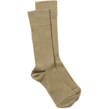 GT by Gold Toe All Day Comfort Dress Rib Socks, 3-pack, Size: 6-12, Brown