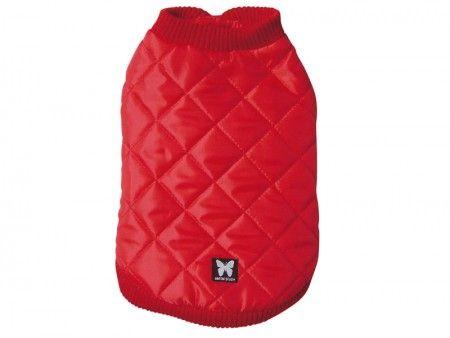 Manteau matelassé rouge. A partir de 17,49€