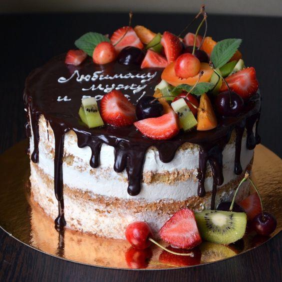 Как красиво украсить торт шоколадом