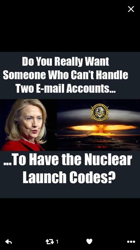 I think Hillary had some type of brain issue a few years back. A mini stroke perhaps. She doesn't have the stamina to be president or the good judgment needed to keep u safe. M.W. 7/31/16