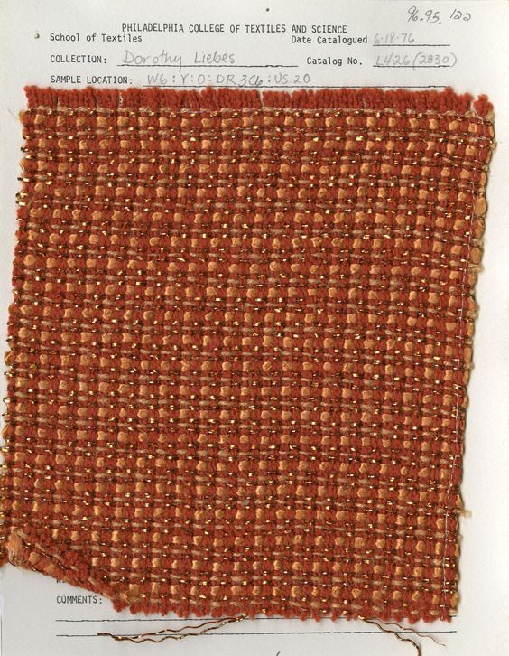 Dorothy Liebes woven sample. Mid-20th century.