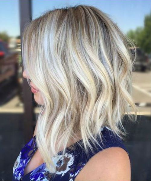 Astonishing Rooty Blonde Lob Layered Hairstyles 2019 For Women To Consider This Year Hair Styles Hair Lengths Platinum Blonde Hair Color