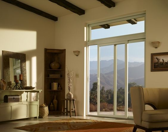 Interior Gliding Patio Door With Transom Good Use Of Wall