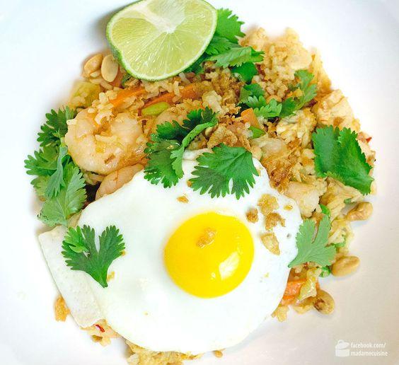 Nasi Goreng (Indonesische Reispfanne) - Madame Cuisine