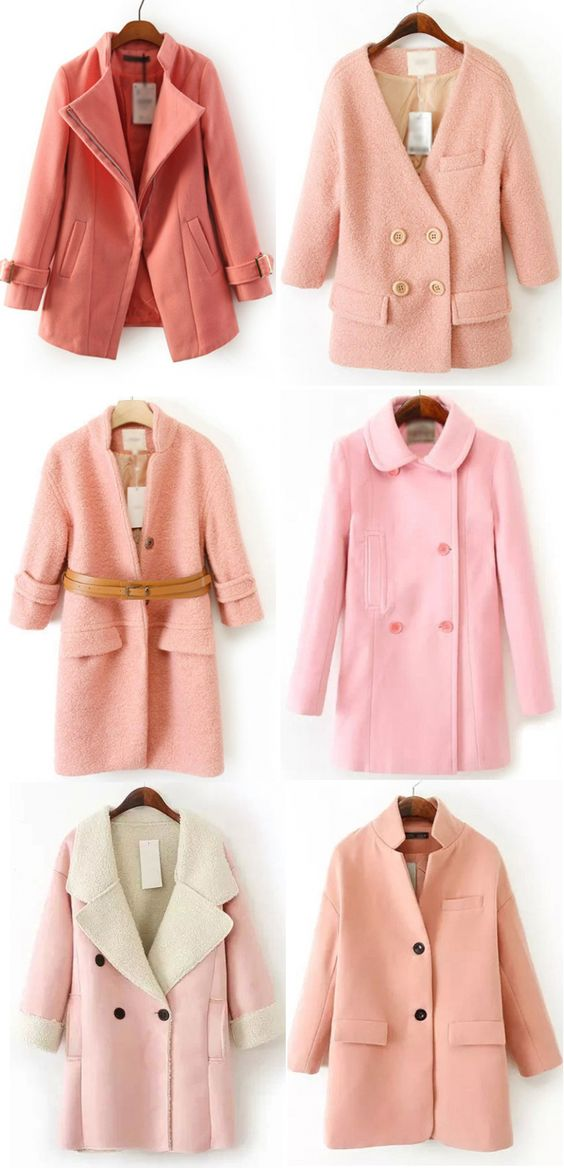Love Pink? Here are a few coats for you, then! #pink #coat #jacket #fashion #cute